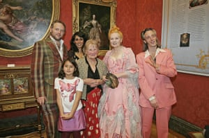 Vivienne Westwood: Dame Vivienne Westwood pictured With Her Family