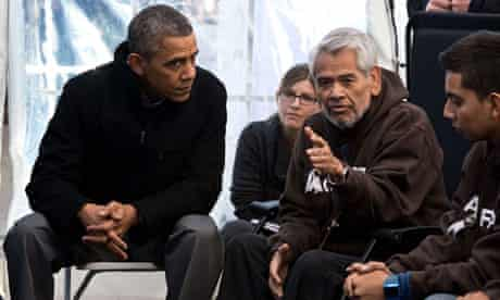 Obama listens to immigration protesters