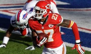 fb1cf5a72 Kansas City Chiefs cornerback Sean Smith intercepts a pass from Buffalo  Bills quarterback Jeff Tuel and