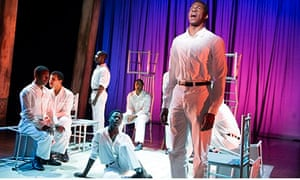Kyle Scatliffe in The Scottsboro Boys at London's Young Vic theatre