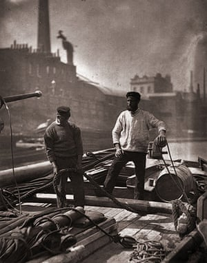 Street Life in London: Silent Highway: Transport workers travel up the River Thames