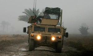 A US Humvee in Iraq