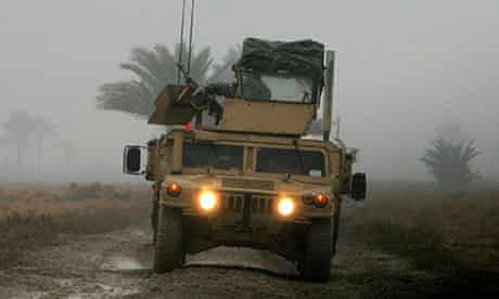 A US Humvee in Iraq