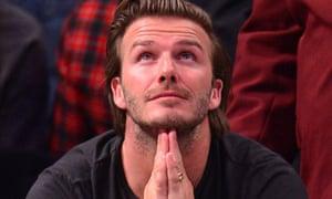 David Beckham attends the Miami Heat vs Brooklyn Nets
