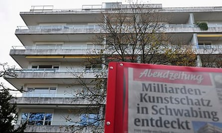 Cornelius Gurlitt's Munich apartment block 4/11/13