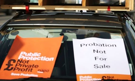 Campaign posters protesting privatisation of the probation services