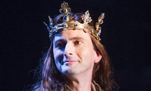 David Tennant as Richard II at the Royal Shakespeare Company
