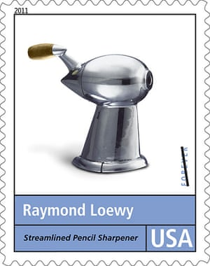 Raymond Loewy designs: A postage stamp honouring Raymond Loewy Design series. Loewy designed the U