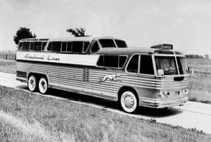 Raymond Loewy designs: 1946: The Greyhound 'Scenicruiser' made for long distance travel across Ame
