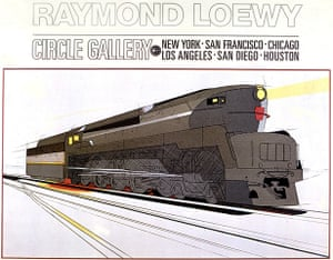 Raymond Loewy designs: 1938: Streamlined locomotive by Raymond Loewy for the Pennsylvania Railroad