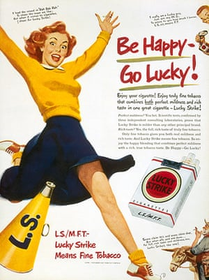 Raymond Loewy designs: 1940: Advertisement for Lucky Strike Cigarettes. Loewy improved the existin