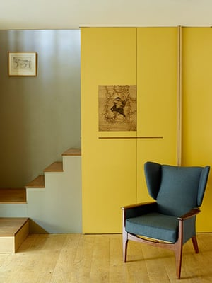 Homes - In With The Old: basement area of period home with yellow wall