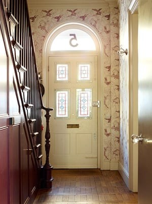 Homes - In With The Old: hallway of period house with front door