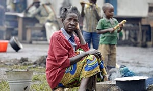 People displaced by the conflict in Congo