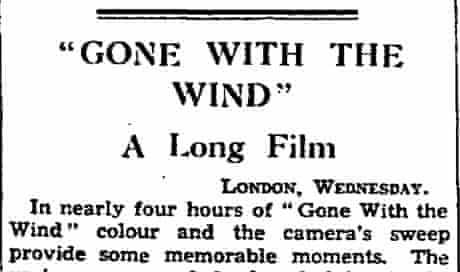 Guardian review of Gone With the Wind, 18 April 1940