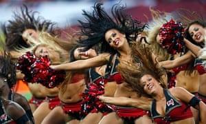 Tampa Bay Buccaneers cheerleaders in action