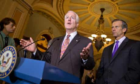 Republican Senators John Cornyn, John Thune, October 2013 attacking Obamacare