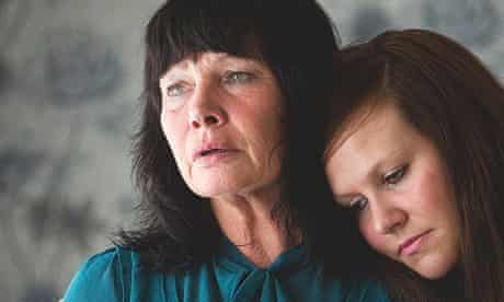 Kyal Gaffney's mother Mary and sister Justine