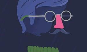Robert Frank Hunter illustration for Oliver Burkeman column on imposter syndrme