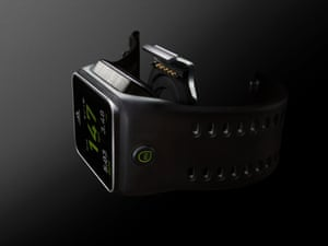 Adidas miCoach Smart Run review - the charging dock clips onto the back to provide a micro USB port for charging and syncing with a computer.