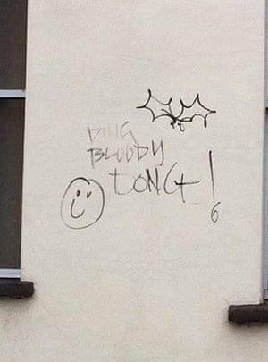 Bad graffiti: Bah bloody humbug