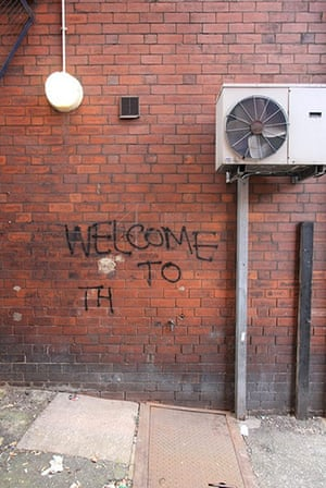 Bad graffiti: mysterious welcome in Leeds...to the North? ...to the Pleasuredome? ...to