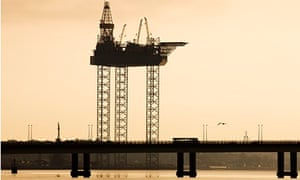 An oil drilling jack-up rig.