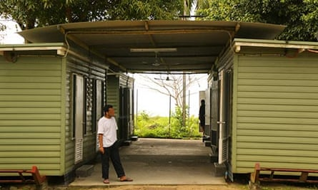 A detainee at the Manus Island detention centre