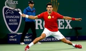 Novak Djokovic of Serbia at the Shanghai Rolex Masters.