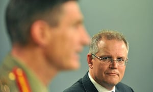 Scott Morrison and Angus Campbell on asylum seekers