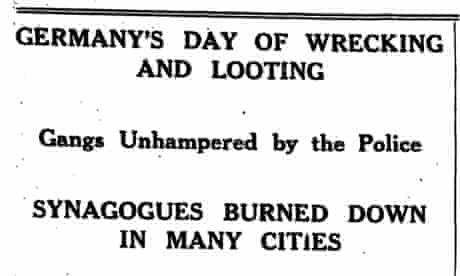 Manchester Guardian, 11 November 1938.