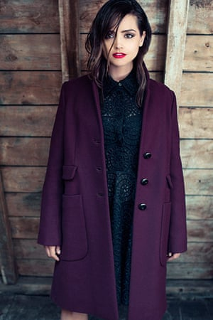 Jenna Coleman: Black shirt dress by Stella McCartney
