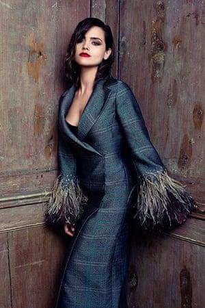 Jenna Coleman: coat by Louis Vuitton