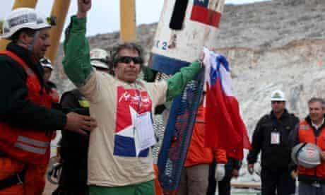 Chilean miner at San Jose mine