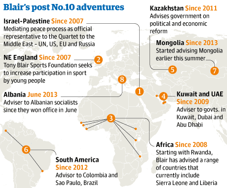 Tony Blair's post-No 10 adventures