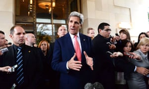 John Kerry attends the nuclear talks in Geneva.