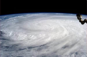 Typhoon Aftermath: Typhoon from space
