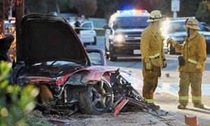 Paul Walker car crash scene