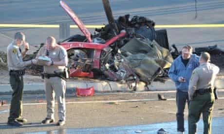 Paul Walker car crash scene  3