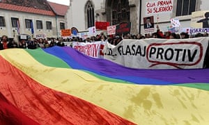 Gay rights protest in Zagreb