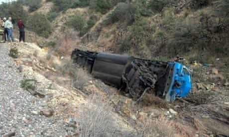 Train derailment in Grant County