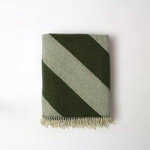 Homes - wishlist: green striped blanket