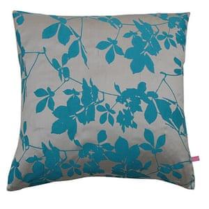 Homes - wishlist: cushions with blue flower print