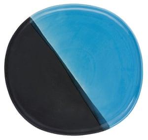Homes - wishlist: blue and black platter dish