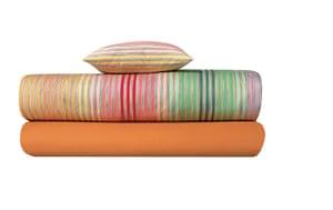 Homes - wishlist: orange striped throws
