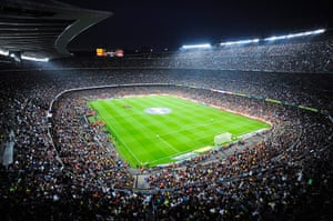 largest football stadiums: The Camp Nou in Barcelona