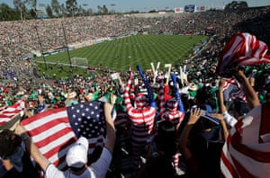 largest football stadiums: Rose Bowl in Pasadena, California, USA
