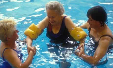 Older women learning to swim