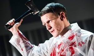 Matt Smith playing Patrick Bateman in American Psycho at the Almeida theatre in London