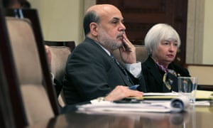 Federal Reserve Board chairman Ben Bernanke  and Janet Yellen, vice-chair and President Obama's nominee to succeed Bernanke,
